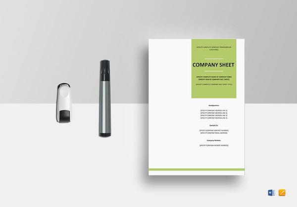 company-fact-sheet-template