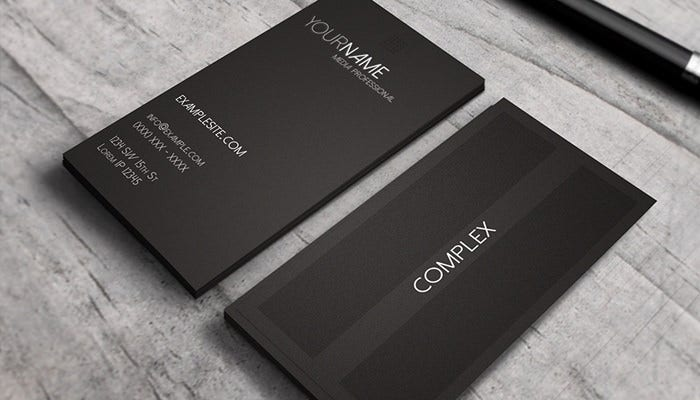 Complex - Modern Business Card