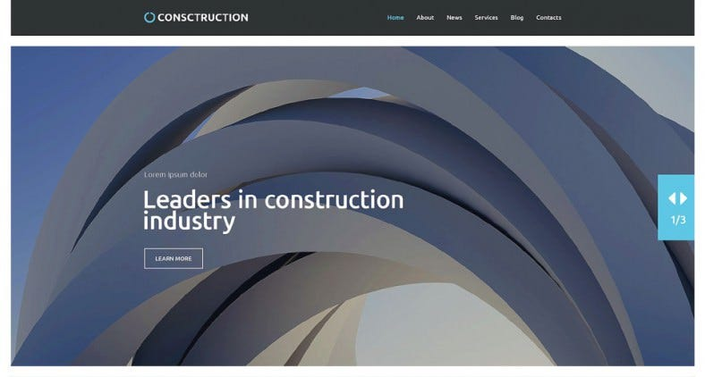 Construction Company Parallax WordPress Theme