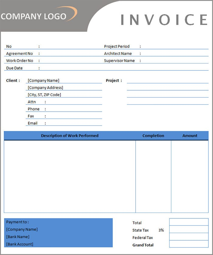 Independent Contractor Invoice Template - Free invoice template : independent contractor invoice template