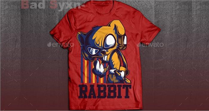 cool rabbit t shirt