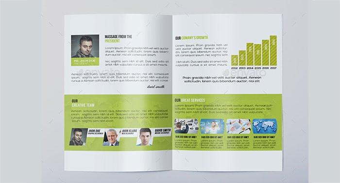 Corporate Bi Fold Brochure  Free Printable Brochure