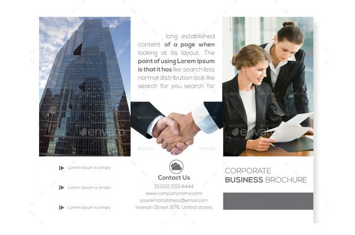 corporate brochure trifold
