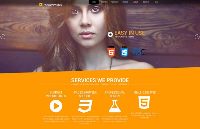 Corporate One Page WordPress Theme