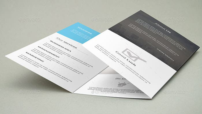 Corporate Tri Fold Brochure Template  Free Printable Tri Fold Brochure Templates