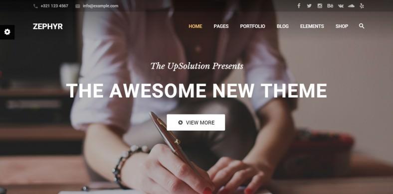 Corporate Wordpress Parallax Design Theme