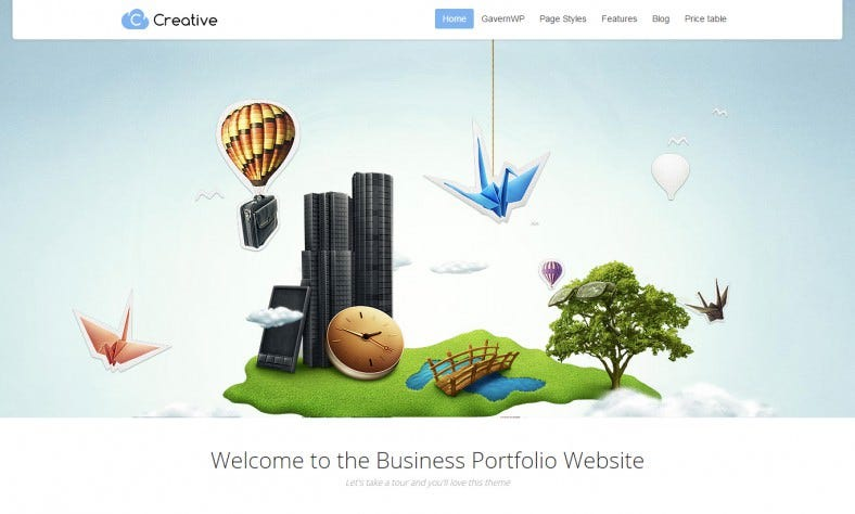 Creative Agency Parallax WordPress Theme