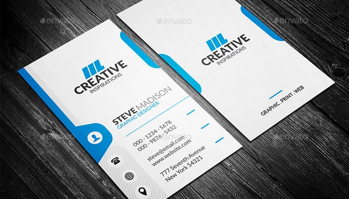Creative Graphic Designer Personal Business Card Corporate