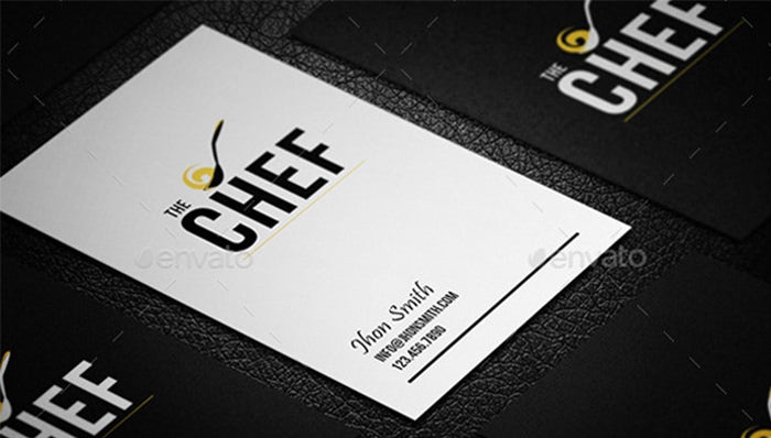 16 business cards for chefs free premium templates creative design chef business card 02 reheart Image collections