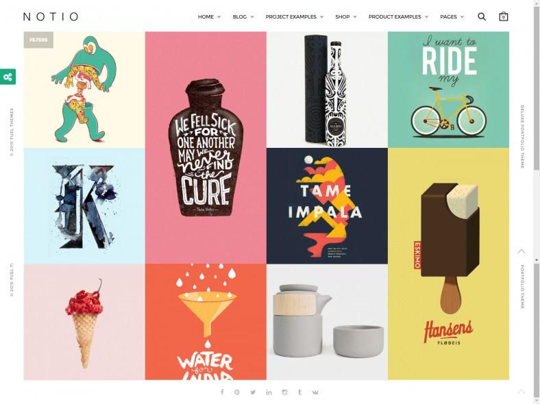 Creative Ecommerce Parallax Wordpress Theme