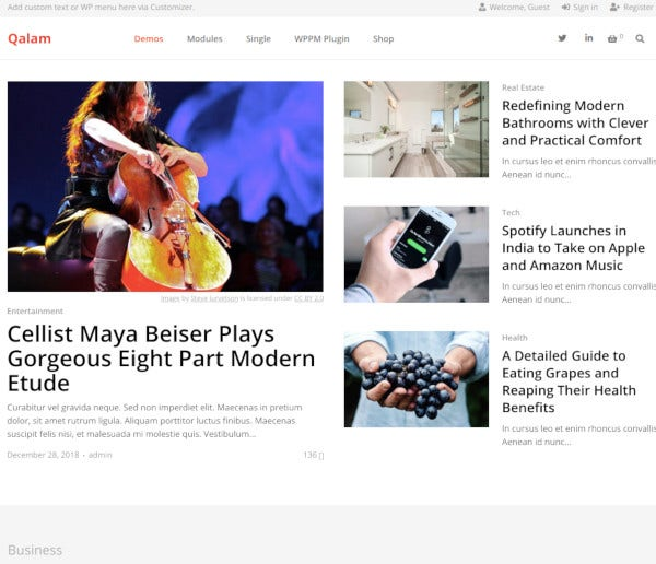 creative newspaper magazine wordpress theme