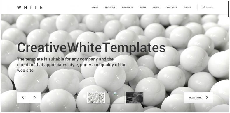 Creative One Page Html Theme
