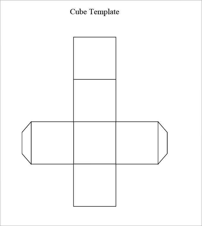 Cube Template, 3D Cube Template