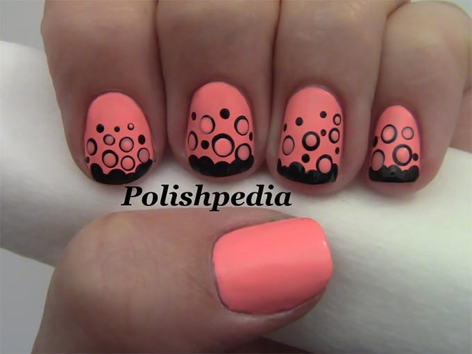 cute nail art design idea