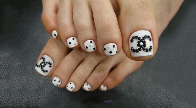 Cute Summer Toe Nail Design