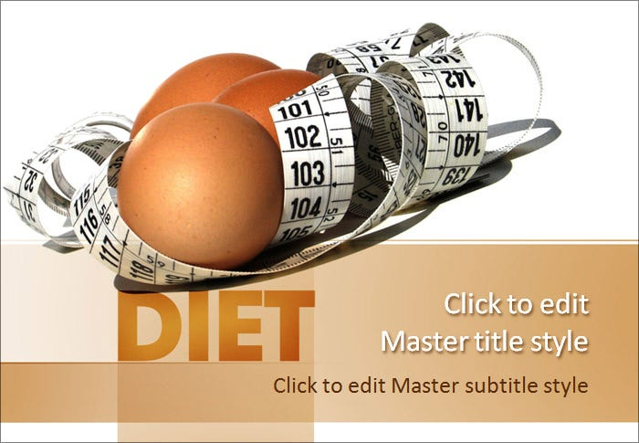 diet and nutrition powerpoint template