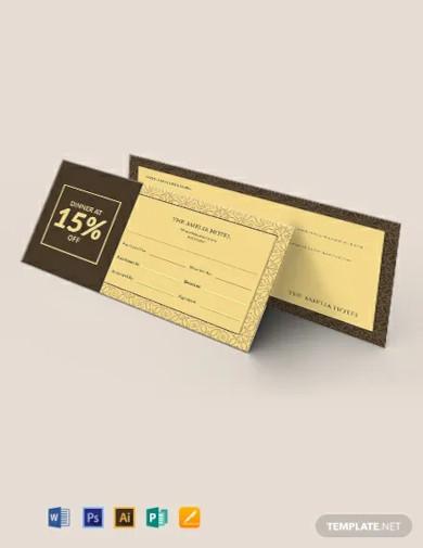discount ticket voucher template