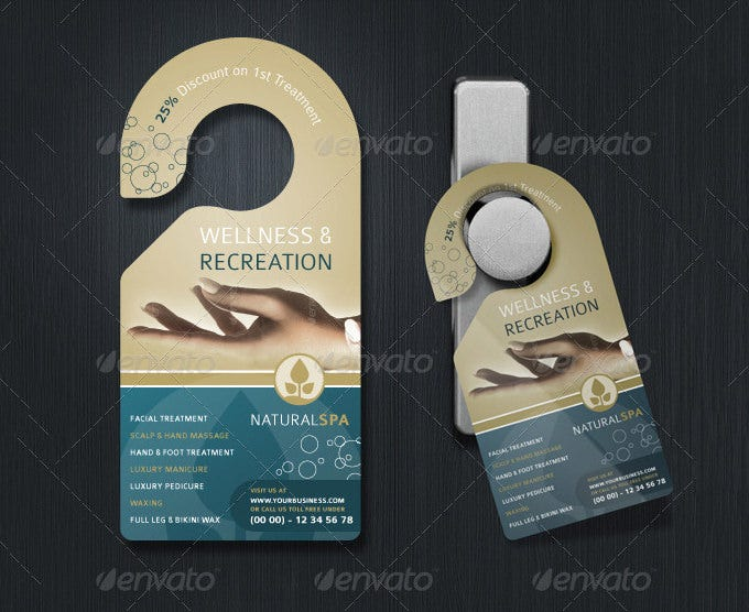 Door Hanger Template Free Premium Templates - Free door hanger template