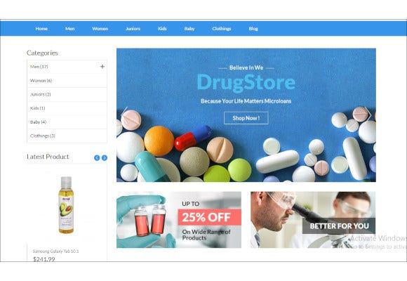 drug store multipurpose e commerce opencart theme