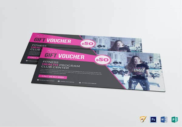editable fitness voucher template