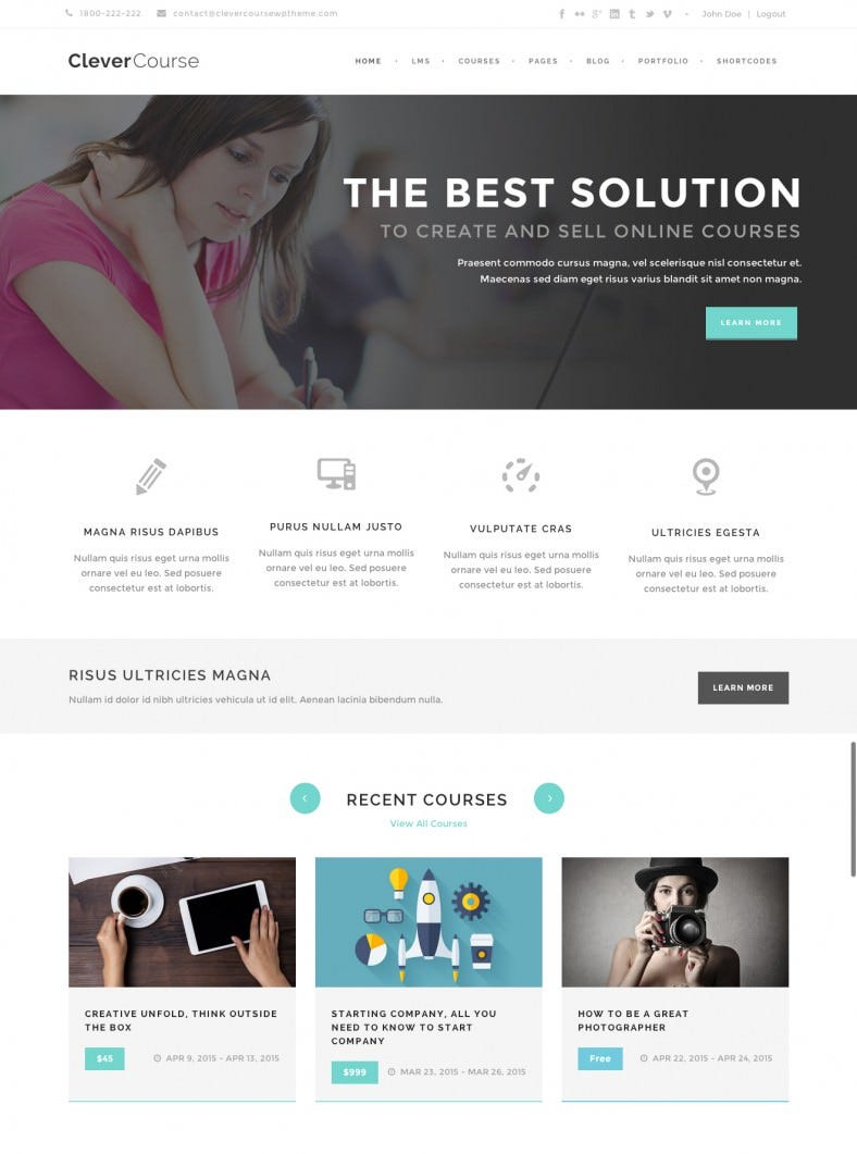 Education Learning Management System WP Theme