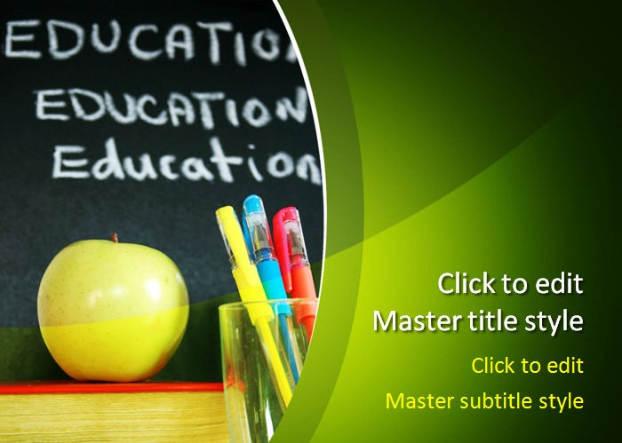 Sample Education Powerpoint Templates  Free  Premium Templates