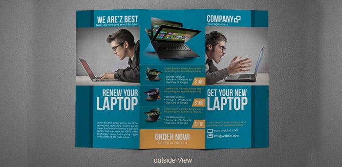 electronic brochure templates - 36 psd company brochure templates designs free