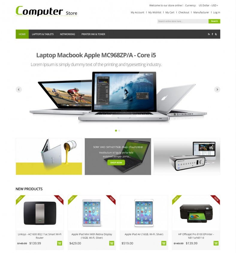 Electronics Magento Template Responsive Design