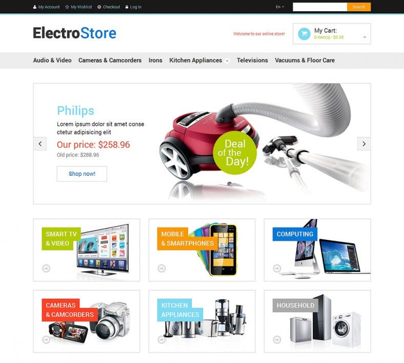 Electronics Store Responsive Magento Template