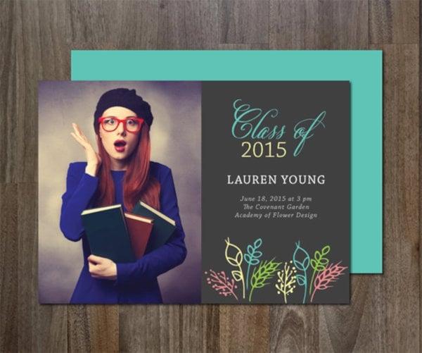 elegant graduation invitation template