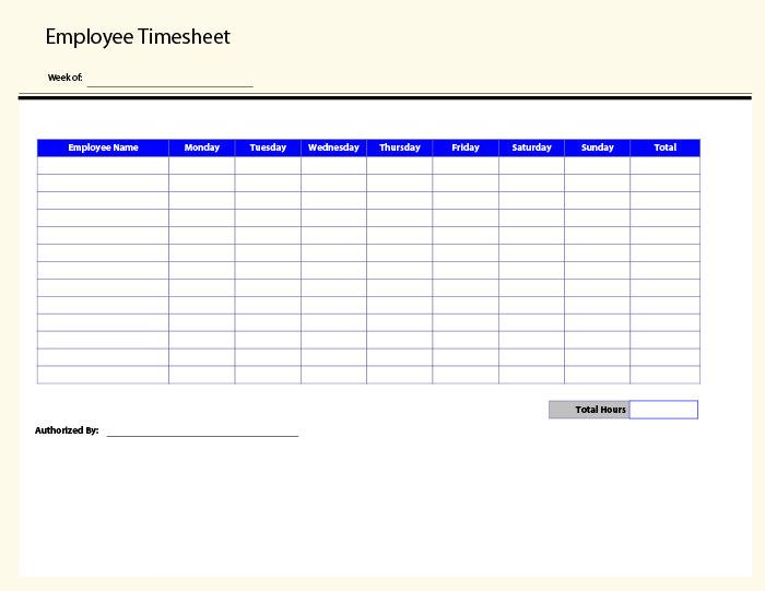 free timesheet calculator template – Monthly Timesheet Calculator