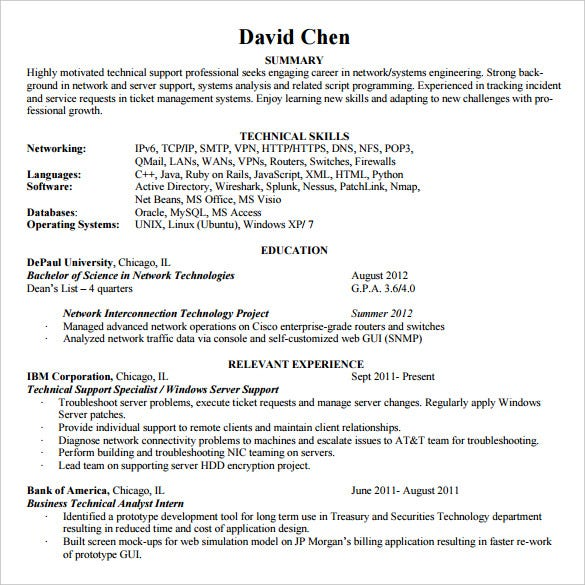 entry-level-chronological-resume