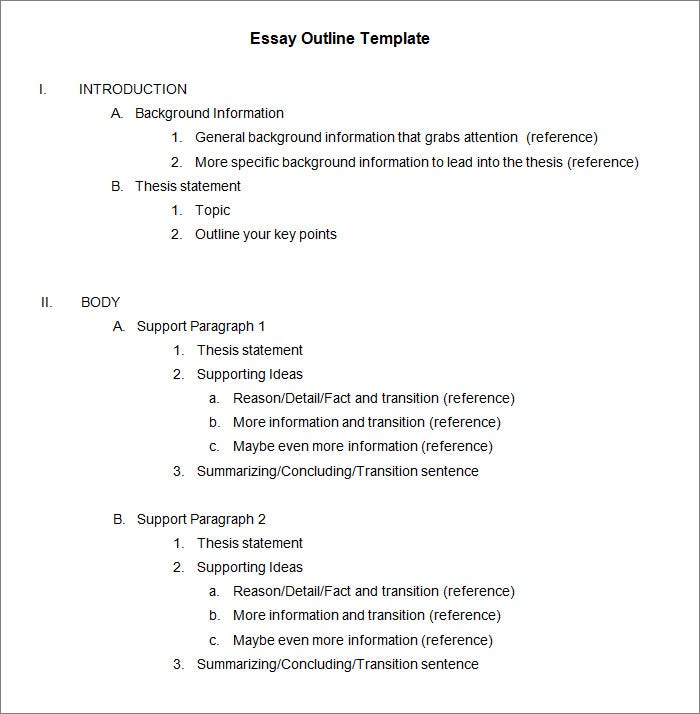 Paper Outline Template In Word