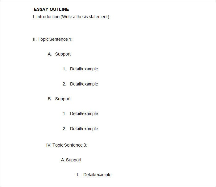 21 Outline Templates Free Sample Example Format Download – Outline Worksheet
