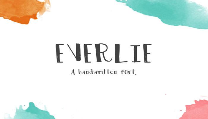 Everlie Handwritten Font