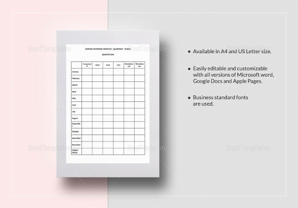 expense-statement-monthly-quarterly-yearly-template