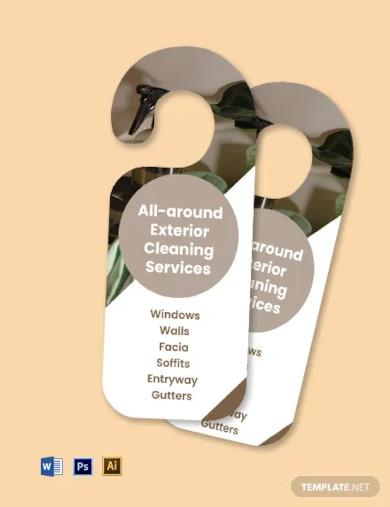 exterior cleaning door hanger template