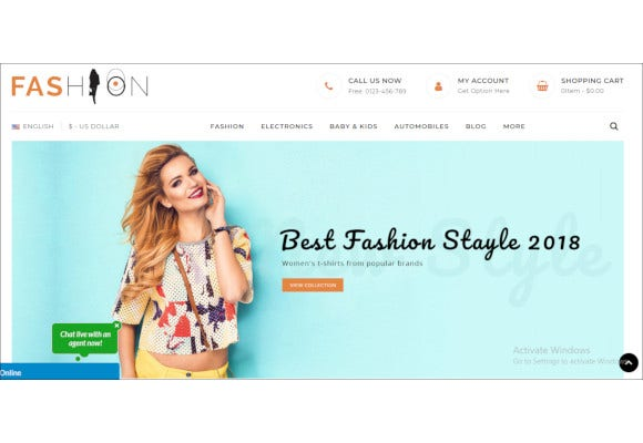 fashion design prestashop template1