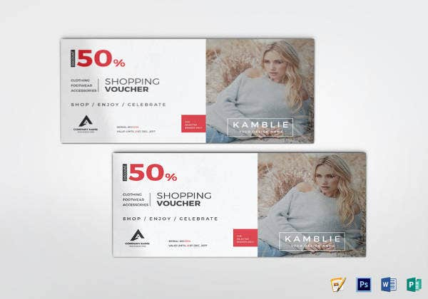fashion shopping voucher design
