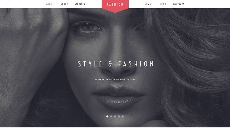 Fashion Stylist Parallax WordPress Theme