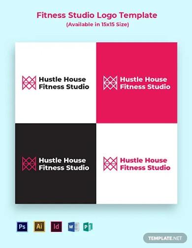 fitness studio logo template