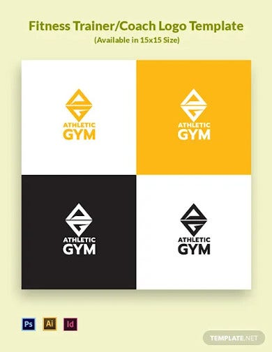 fitness trainer coach logo template
