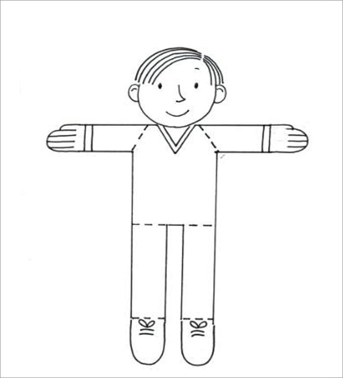 20 Free Flat Stanley Templates Colouring Pages To Print Flat Stanley Coloring Page