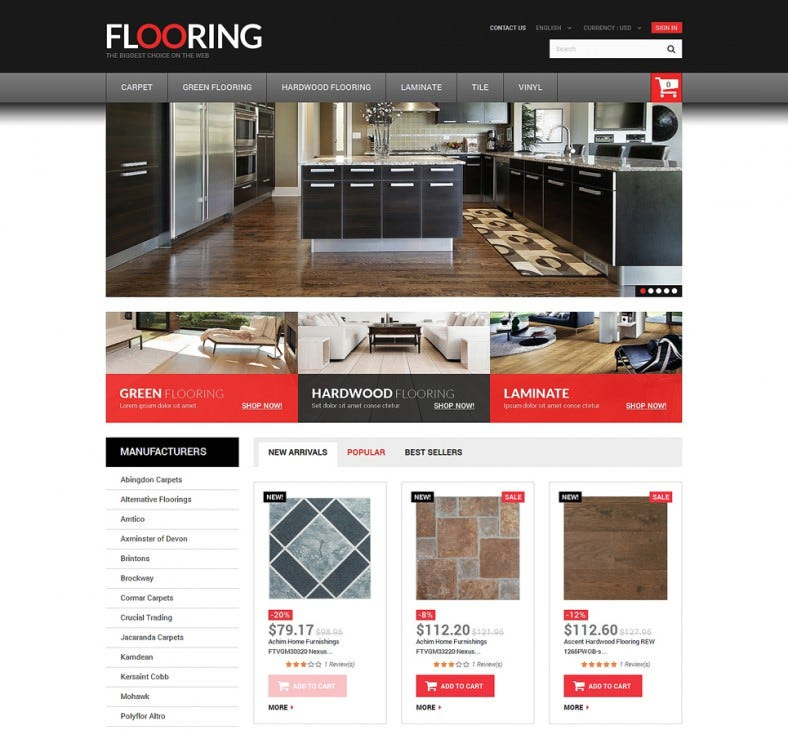 Flooring Designs Store PrestaShop Theme
