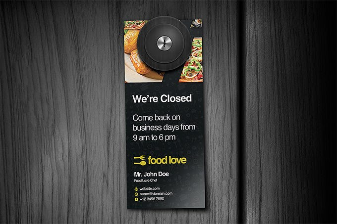 Door Hanger Template – Restaurant Door Hanger Template