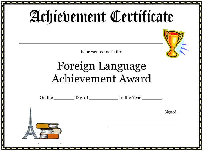 Foreign-Language-Achievement-Award-Certificate