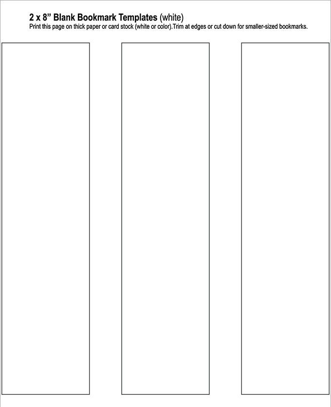 Blank Bookmark Template, Bookmark Template