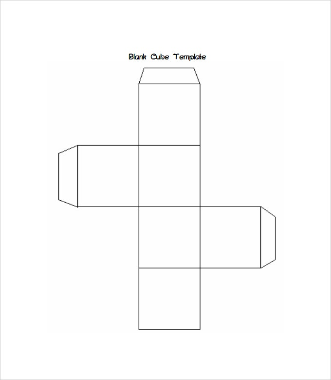 free blank cube template