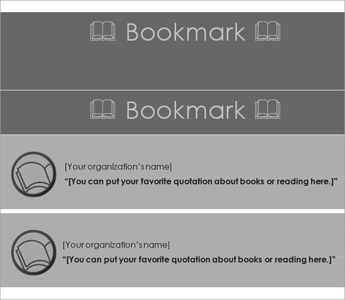 free bookmark template
