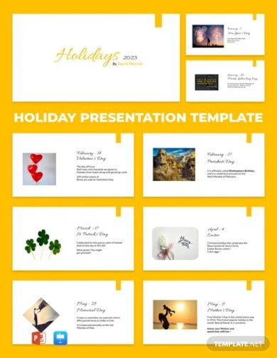 free holiday presentation template